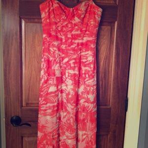 BCBGMAXZRIA strapless gown